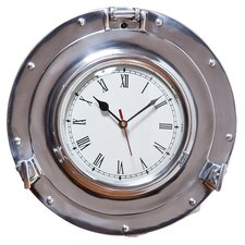 "11"" Waterside Retreat Porthole Wall Clock"