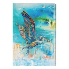 Outdoor Canvas Pelican Flight Wall Decor