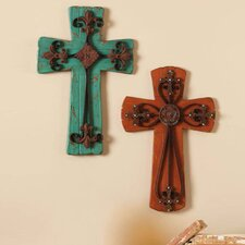 2 Piece Crosses Wall Décor Set
