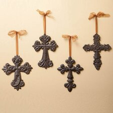 4 Piece Crosses Wall Décor Set