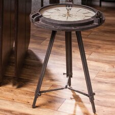 Vintage Clock End Table