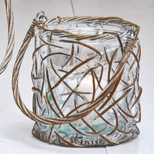 Glass Willow Weaved Lantern
