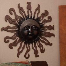Sun Metal Wall Decor 37""
