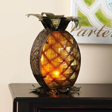 Glass and Metal Pineapple Table Lamp