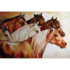 Power of 6 by Bella Dos Santos Painting Print on Canvas Set (Set of 3)