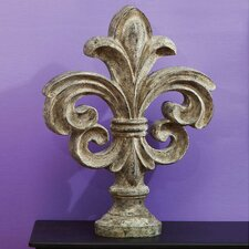 Polystone Garden fleur De Lis Finial Table Decor