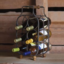 Everyday Retro 6 Bottle Tabletop Wine Rack