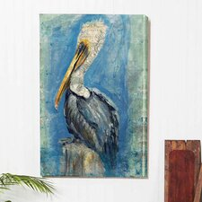 'Brown Pelican' Indoor by Anthony Morrow Painting Print on Canvas