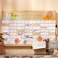 Do Not Worry Dry Erase Memo Board with Magnets