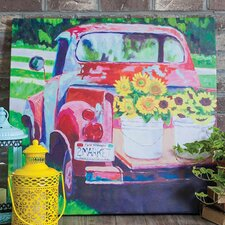Outdoor Canvas Truck Wall Decor