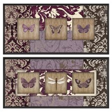 Wings on Paisley Framed Indoor Canvas Art (Set of 2)