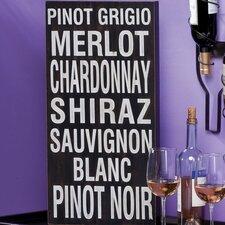 Plock 'Pinot Grigio' Textual Art Plaque