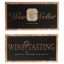 Prestige Wine and Good Wine Tasting 2 Piece Vintage Advertisement on Canvas Set