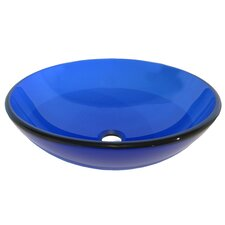 Blu Glass Vessel Bathroom Sink