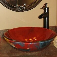 <strong>Novatto</strong> Asiatico Glass Vessel Bathroom Sink