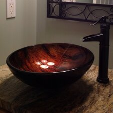 <strong>Novatto</strong> Mimetica Glass Vessel Bathroom Sink