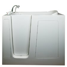 "Deep 55"" x 35"" High Soaking Walk-In Bathtub"