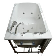"Bariatric 55"" x 35"" Seat Hydrotherapy Massage Walk-In Bathtub"