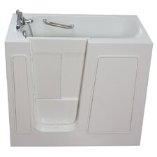 "Small 45"" x 26"" Long Soaking Walk-In Bathtub"