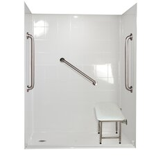 Standard Plus 24 Barrier Free Roll in System 4 Panels Shower Wall