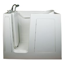 "Small 40"" x 45"" Long Air Massage Walk-In Bathtub"