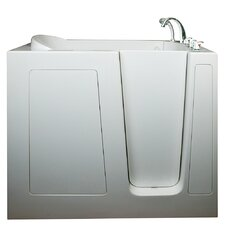 "Deep 55"" x 35"" High Air and Hydrotherapy Massage Walk-In Bathtub"