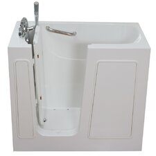 "Small 45"" x 26"" Long Air and Hydro Massage Walk-In Bathtub"