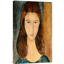 'Jeanne Hebuterne, 1919' by Amedeo Modigliani Painting Print on Canvas