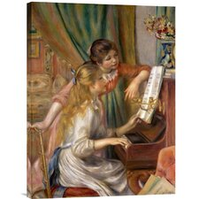 'Two Young Girls at the Piano' by Pierre Auguste Renoir Painting Print on Canvas