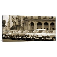'Automobiles, Cuba' by Nik Wheeler Photographic Print on Canvas