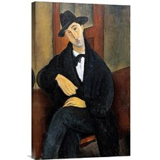 'Portrait of Mario.(Marios Varvoglios)' by Amedeo Modigliani Painting Print on Canvas