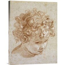 'The Head of a Child' by Niccolo Berrettoni Painting Print on Canvas