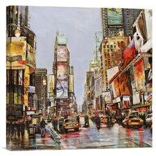 'Times Square Jam' by John B. Mannarini Painting Print on Canvas