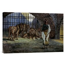 'Daniel in the Lions Den' by James Tissot Painting Print on Canvas
