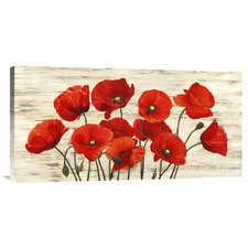 'French Poppies' by Serena Biffi Painting Print on Canvas