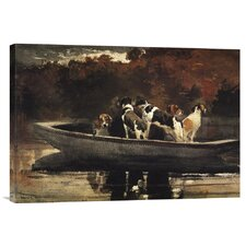 'Waiting For The Start' by Winslow Homer Painting Print on Canvas