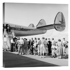 'Passengers waiting to Board, 1950s' by C.S. Bauer Photographic Print on Canvas