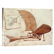 'Flying Machine' by Leonardo Da Vinci Painting Print on Canvas
