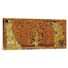 'Tree of Life Red Variation' by Gustav Klimt Painting Print on Canvas