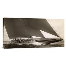 'J Class Sailboat, 1934' by Edwin Levick Photographic Print on Canvas
