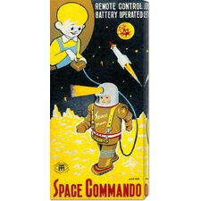 <strong>Bentley Global Arts</strong> 'Space Commando' by Retrobot Stretched Canvas Art