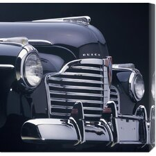 <strong>Bentley Global Arts</strong> 'Detail of 1941 Buick Super 4-Door Convertible' by Peter Harholdt Stretched Canvas Art
