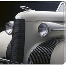 'Detail of 1939 La Salle Convertible' by Peter Harholdt Stretched Canvas Art