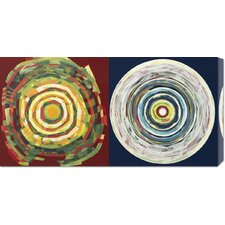 <strong>Bentley Global Arts</strong> 'Target duo I' by Nino Mustica Stretched Canvas Art