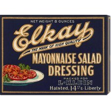 'Elkay Mayonnaise Salad Dressing' by Retrolabel Vintage Advertisement on Canvas