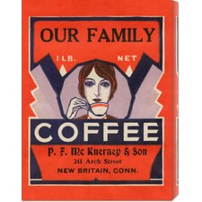 'Our Family Coffee' by Retrolabel Vintage Advertisement on Canvas
