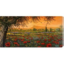 <strong>Bentley Global Arts</strong> 'Pianura in fiore' by Tebo Marzari Stretched Canvas Art