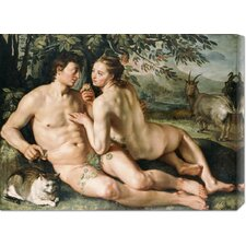'The Fall of Man' by Hendrick Goltzius Painting Print on Canvas