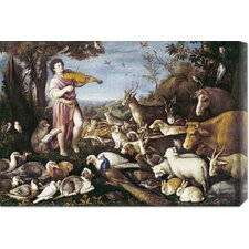 'Orpheus Charming The Animals' by Leandro Da Ponte Painting Print on Canvas