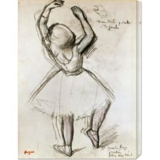 'Backview of a Dancer' by Edgar Degas Stretched Canvas Art